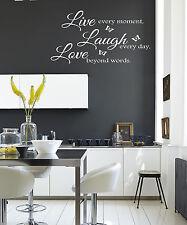 LIVE Laugh Love Butterfly's Muro Citazione Adesivi Muro Decalcomanie CUCINA / SALOTTO!