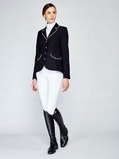 Asmar London Show Coat in Black/White