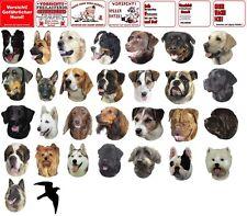 Warnschild oder Aufkleber verschiedene Motive Hunderassen Warntafel Hund Katze