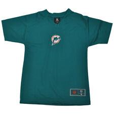 NFL Miami Dolphins Pinne Ragazzi Bambini Verde Blu Scollo a V Calcio T-Shirt