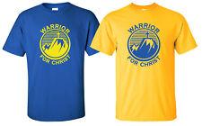 """Warriors for Christ"" T-Shirt christian faith bible jesus christ golden state"