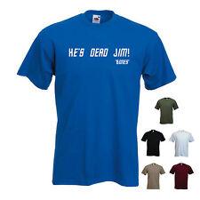 """egli'S DEAD JIM"" - ""ossa"" / DR. McCoy STAR TREK MOVIE / KIRK / da Uomo Divertente T-Shirt"