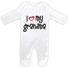 I LOVE MY GRANDMA Baby SleepSuit Romper - 0-18months