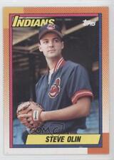 1990 O-Pee-Chee #433 Steve Olin Cleveland Indians RC Rookie Baseball Card