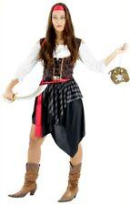 Piratenkostüm für Damen Piratin Piratinnen Kostüm Freibeuterin Pirat Gr. S - XXL