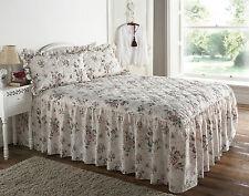 Rose Garden Floral Quilted Bedspread