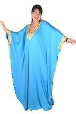 Damen Kaftan Kleid im Butterfly Look Sommer Urlaub Hauskleid in türkis KA01075
