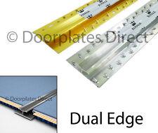 Carpet to Carpet Door Bar - Twin Dual Edge - Silver or Brass - Threshold / Metal
