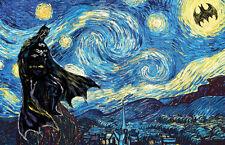 Batman Starry Night Vincent van Canvas Home decor wall canvas printing