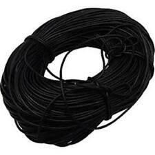 3mm Cavo In Pelle Nera Autentico 100% in Pelle 1m 2m 3m tanga pizzo string Round