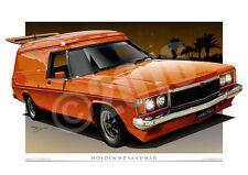 Holden HZ Sandman Car Drawings by Unique Autoart (Unframed)