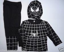 BNWT Spiderman Kids Costume in Black&White Dress up Cosplay 3-10yrs