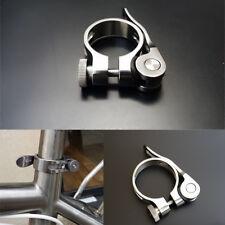 31.8/34.9mm Titanium Bicycle Quick Release Seatpost Holder Clip Seat Post Clamp