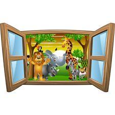Sticker enfant fenêtre Les animaux du safari réf 1026 1026