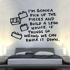To Sheeran LEGO House CANZONE MUSICA CANZONI Adesivo Parete Arte 60 cm x 89cm