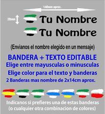 pp5-2 2 x Bandera Extremadura España Nombre Editable Pegatina Vinilo Bicicleta