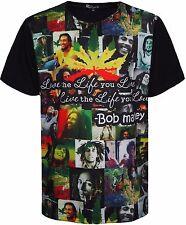 Men's Bob Marley T-Shirt Maniche Corte Grande Stampa sulla parte anteriore BIG SIZE'S 3XL 4XL