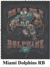 NFL Miami Dolphins Mascot cross stitch pattern