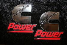 2 Cummins emblem dodge ram decal stickers power diesel badge truck power ENGINE