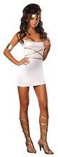 Oh My Goddess Adult Womens Costume White Sexy Greek Roman Toga Halloween