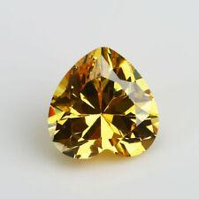 Piedra Oval Corte CITRINO CZ Suelto Solo Amarillo Cubic Zirconia Piedra Forma