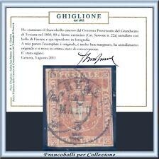 FAI IL PREZZO ASI 1860 Toscana c. 80 bistro carnicino n. 22a Usato Certif Italia