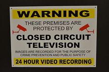 Signo de grabación de CCTV de 24 hora de Advertencia Seguridad Impermeable 3mm Cámara Dibond De Metal