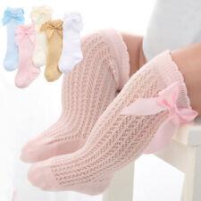 Bowknot Baby Socks Girls Summer autumn Mesh Kids Infant Toddler Knee High Socks