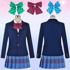 Love Live! Fancy Dress JK School Uniform Cosplay Costume Tops Tie Women Anime