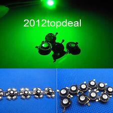 New 1 5 10 50 100pcs 3W Green High Power Led Light Bead Chip 3 Watt 520-525nm