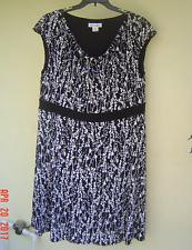 NWT LAURA JEFFRIES BLACK WHITE  CAREER DRESS SIZE 18 W 20 W 22 W WOMEN $98