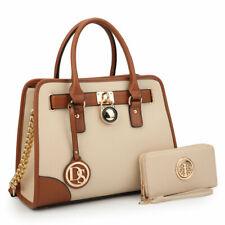 Women Medium Handbag Satchel Top Handles Shoulder Bag w/ Matching wallet Purse