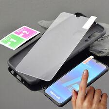 Samsung Galaxy A20e Hülle Silikon Dark Case Tasche Cover + 9H Schutz Folie Glas
