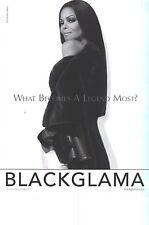 PUBLICITE ADVERTISING   2012    BLACKGLAMA  Janet JAKSON