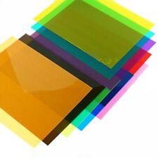 5x A4 PVC Flexible Plastic Sheets Transparent Gel DIY Crafts Film Lighting Multi