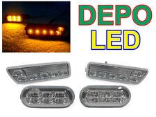 USA DEPO 99-04 VW GOLF/GTI/JETTA 4 CLEAR LED BUMPER SIDE MARKER LIGHT + FENDER