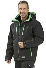 3620 Planam Wetterschutz Jacke Drift schwarz/grün, Winter Jacke, Arbeitsjacke