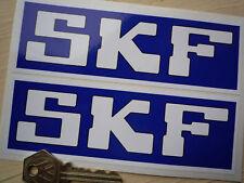 """SKF Azul Y Blanco Adhesivos Coche Carreras 6"""" Par Moto Grupo C F1 De"""