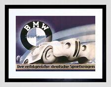85204 ADVERTISEMENT BMW SPORT CAR GERMANS BLACK Decor WALL PRINT POSTER CA