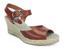 SKA BETTY V5N Tan Espadrille Strapy Wedge Sandals