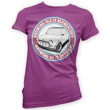 Grow Up Optional A-Series Womens T-Shirt -x14 Colours- Gift Present British Car