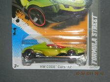 HW HOT WHEELS 2012 CODE CARS #12/22  FORMULA STREET INDY CAR HOTWHEELS LIME GRN