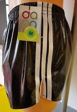 Retro PVC Football Shorts S to 4XL, Black & White