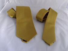 "Gold Mens Neckties > Normal Tie > 3.5"" Width OR Skinny Tie > 2.5"" Width -Wedding"