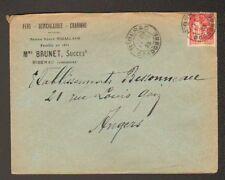 """RIBERAC (24) FER QUINCAILLERIE CHARBON """"Vve RIGALLAUD / Mme BRUNET Succ"""" en 1933"""