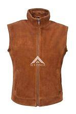 """TRUCKER"" New Men's 1290 Tan Suede Sleeveless Classic western Waistcoat Jacket"