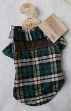 Doggie Lumberjack Jacket Brown or Green Tartan in 4 x Sizes DCL 15