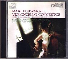 Mari FUJIWARA: BOCCHERINI HAYDN Cello Concerto DENON Japan CD Michi INOUE