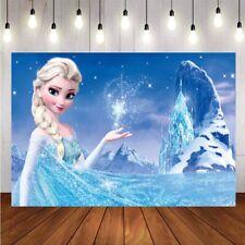 Frozen Elsa Girls Birthday Party Photography Backdrop Kids Prop Background Decor