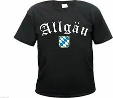 """ALLGÄU T-Shirt """"Altdeutsch mit Bayern Wappen"""" - schwarz - S bis 3XL - NEU -"""